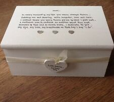 Shabby Personalised Chic Jewellery Box Mother of the Bride / Groom Wedding gift.