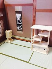 Dollhouse Japanese Style ORNAMENT CABINET & BONBORI wood craft Amazing Japan