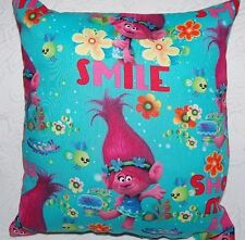 NEW HANDMADE DREAMWORKS  TROLLS POPPY SMILE  TRAVEL TODDLER  PILLOW~NEW PATTERN
