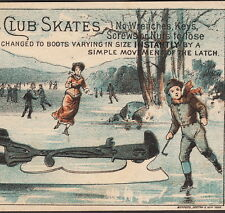 Imperial Club Ice Skate Manufacturer ca 1800's 19th Century old Advertising Card