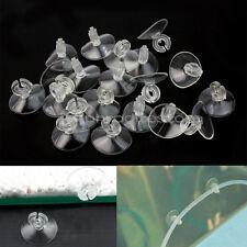 20 Ventosa Trasparente 27mm Dia. con Clip per Tubo Acquario Superficie Vetro
