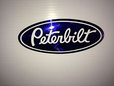 3 Peterbilt  Blue diamond plate Vinyl decals  Hood & Grille Decal Emblems