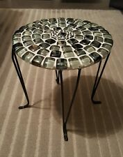 Custom Handmade Glass Tile Plant Stand - 11 Inches Tall