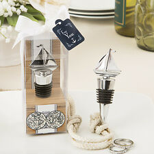Nautical Ship Boat Themed Silver Wine Bottle Stopper Favours and Gift Idea