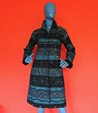 Chico's Embroidered Opera Coat Duster 1 M 8 10 12 Jacket Jacquard Turquoise Art