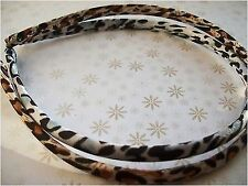PACK 2 SATIN LEOPARD ANIMAL PRINT FABRIC ALICE HEAD HAIR BAND BROWN BLACK WHITE