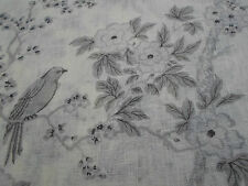 Ralph Lauren Curtain Fabric 'Marlowe Floral Sheer' 3.55 METRES 355cm Dove Voile