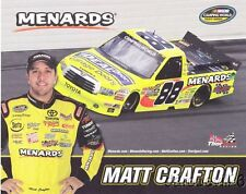 "2013 Matt Crafton Ideal Door ""2nd issued"" Toyota Tundra NASCAR CWTS postcard"