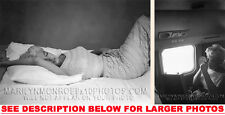 MARILYN MONROE SLEEPING and FLYING 2xRARE4x6 PHOTOS