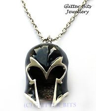 X Men Magneto Mutant Helmet Necklace Pendant Marvel Comic Magnus Silver Mask