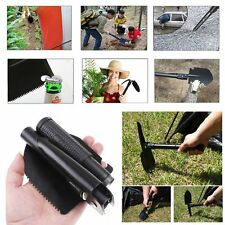 16'' Camping Folding Spade Shovel Pick Axe Emergency Army Military Metal Tool