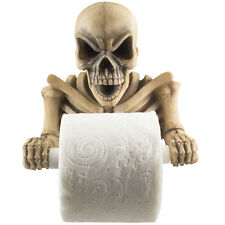 Evil Skeleton Toilet Paper Holder Scary Halloween Decoration Bathroom Decor Gift