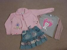 Next girls cardigan and skirt bundle aged 4-5 years