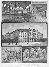 Leipzig,  Konservatorium, Hochschule für Musik und Theater, Org.-Holzstich 1888