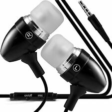 Twin Pack - Black Handsfree Earphones With Mic For Huawei Ascend G7
