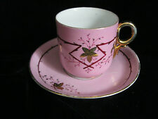 VINTAGE GERMAN - PINK WITH GOLD - CUP AND SAUCER