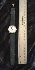 Mickey Mouse Wristwatch Round Water Resistant Base Metal Bezel Serial Number