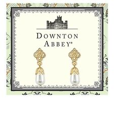 Downton Abbey Gold-Tone Simulated Pearl Drop Earrings  17699
