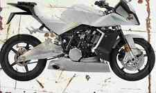 KTM RC8 Venom 2005 Aged Vintage Photo Print A4 Retro poster