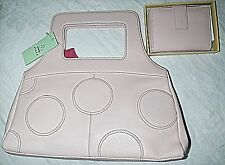 TOMMY & KATE ICED PINK LEATHER HANDBAG WITH MATCHING BOXED PURSE IN DUST BAG WOW