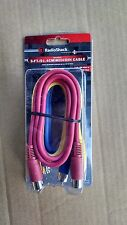 3x 3ft MIDI Cable Male to Male  5 Pin DIN Plug 3 Pack Lot 3 Feet-Blue Yellow Red