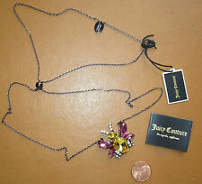 NEW Juicy Couture Necklace Crystal Bee Charm