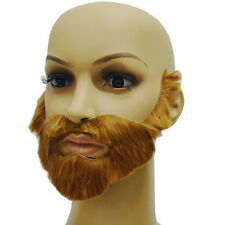Cosplay Costume Party Male Halloween Beard Facial Hair Disguise Brown Mustache01