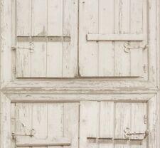 Vliestapete Rasch Crispy Paper Holz Fensterläden grau weiß 525014 (2,35€/1qm)
