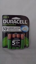 (4) DURACELL AA Rechargeable NiMH 2000 mAh 1.2V Batteries 4 PACK DX1500 NIP