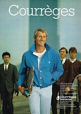 PUBLICITE ADVERTISING 044  1981  COURREGES  mode homme blousons pantalons