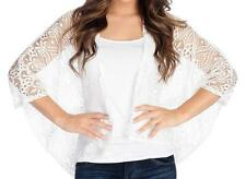 NEW - Kate & Mallory® Crochet Lace Dolman Sleeved Open Front Cardigan - Sz M