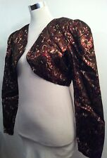 Retro Vintage Party Jacket Floral Glitter Bolero  / Special Occasions / Size M