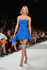 $3,750 NWT Nina Ricci Duchesse RUNWAY Mini Dress Blue Tuffeta Bubble ,sz.38/US 6