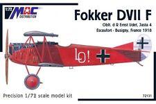 MAC DISTRIBUTION 72131 1/72 Fokker DVII F Oblt d R Ernst Udet, Jasta 4