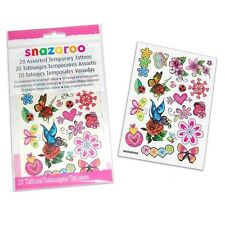 20 x Snazaroo girls  Temporary Tattoos Children's Kids' Face + Body Sticker