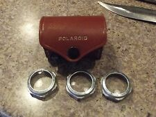 Vintage NO 540 POLAROID LENS KIT in Leather Case with Measuring Tape