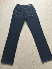 Women's Levis Bold Curve Straight Stretch Jeans W24/25 L32 Good Condition (661)