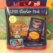LITTLEST PET SHOP PINK BREE NIBBLESON MOUSE 1698 NEW LPSO w/ 1 FREE PET