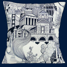 "NEW RETRO ALEXANDER HENRY SMOKE STACK CITY BUILDINGS 16"" Pillow Cushion Cover"