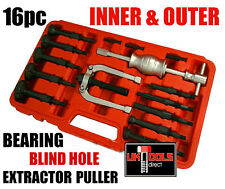 16pc BEARING EXTRACTOR PULLER SET BLIND INNER BEARING REMOVAL SET