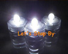 12 White LED SUBMERSIBLE Wedding Waterproof  Floralytes Decoration Tea Light