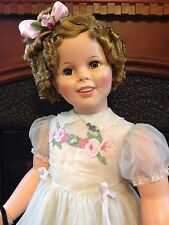 "36"" Ideal Shirley Temple Playpal Doll With Original Clothing Plus Many Extras!"