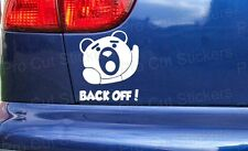 100mm (10cm) Ted Back Off! Funny Rude Movie Car Sticker Decal Graphic Vinyl Film