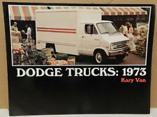 VAN TRADESMAN WORK KARY 73 1973 MOPAR BOYS DODGE DEALER BROCHURE
