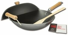 4-Piece Carbon-Steel Wok Cookware Set Non-Stick Stir Fry Pan Chinese Skillet New
