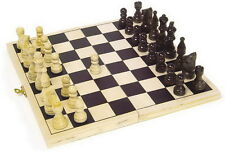 Wooden Folding Chess Set Traditional Board Games Quality Classic Toys Travel