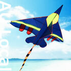 Blue Warcraft Plane Kite Line included 140x100cm Fly High OKITE2402&OKLIN2100