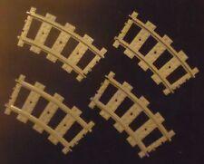 Lotto di 4 binari curvi in plastica LEGO TRAIN