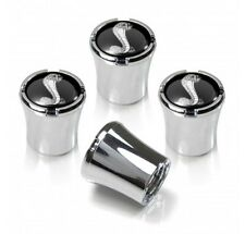 Shelby Cobra Black and Silver Tire Valve Stem Caps Set of 4 Mustang MADE IN USA