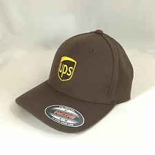 UPS Flexfit Cap Yupoong Wool Blend 6477 Hat United Parcel Service Brown S/M